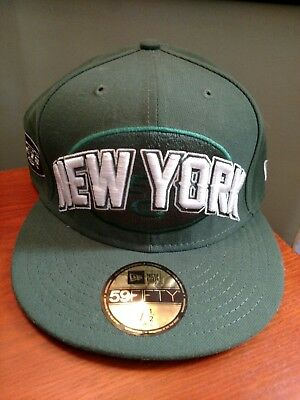 New Era New York Jets Hat Cap 59FIFTY 5950 NFL Draft 2012 Fitted Size 7 1 ab3d3ce39
