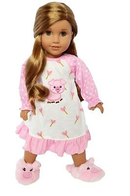 Piggy Nightgown Doll Outfit Fits 18 Inch American Girl Doll Clothes