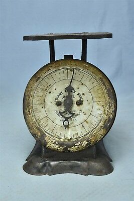 Antique 1903 PELOUZE FAMILY HOUSEHOLD SCALE 24 LBS CHICAGO USA SHABBY CHIC 06415