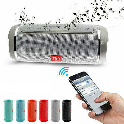 Portable Waterproof Bluetooth Speaker Wireless Outdoor Stereo SD/FM Subwoofer