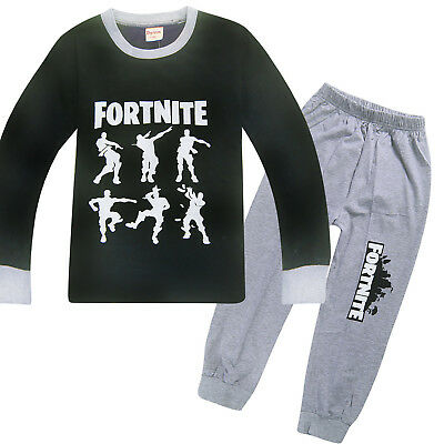 Boys Fortnight Outfits T Shirt Pants Kids Pyjamas Sleepover PJS Set Bday Gift