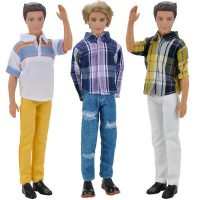 Hot Sale 3 Sets Handmade Doll Clothes Tops Pants Jeans Outfit For Barbie Doll