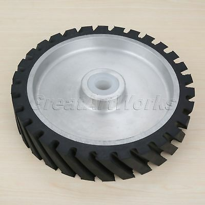 Rubber Wheel Belt Sander Polisher Wheel Abrasive Belt Fine Polishing 250*50*47mm