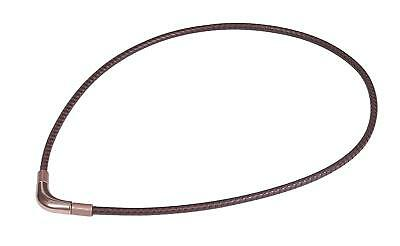 Phiten RAKUWA Titan Necklace X100 Chopper Model from Japan Brown 40cm / 15.7""