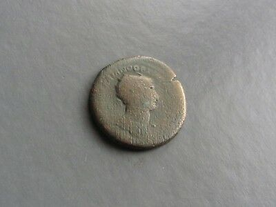 #c724# Large Roman bronze coin of emperor Trajan from 98-117 AD