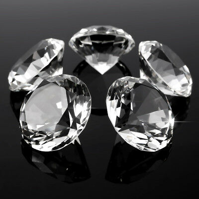 60mm Crystal Diamond Cut Glass Paperweight Party Gem Ornament Decor 1/5 PC