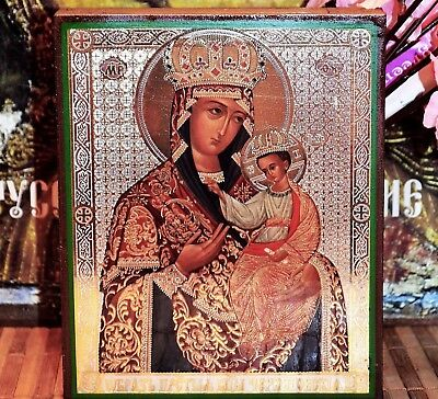 Mother of God Chernigov-Gethsemane- Wood, Silver Gold Embossing Russian icon