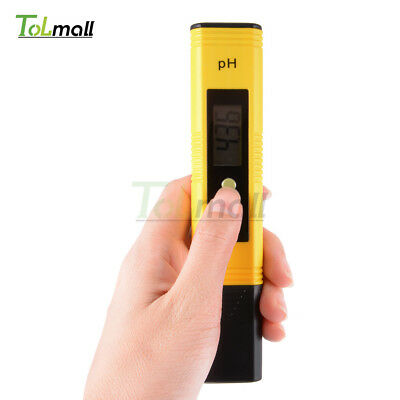 Pocket Digital PH Meter Tester Aquarium Pool Water Wine Urine LCD Pen Monitor