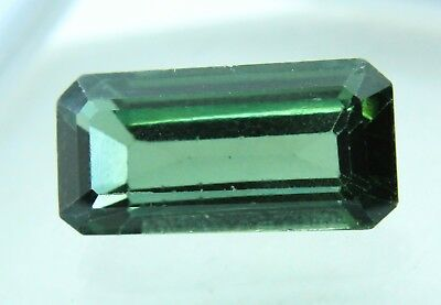 9.25 Ct GGL Certified  Emerald Cut Green Color Natural Tourmaline Gem Ring Size