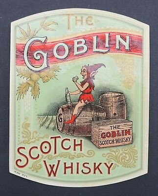 Ancienne étiquette THE GOBLIN SCOTCH WHISKY french label