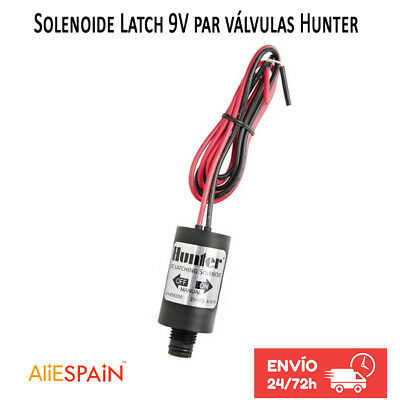 Solenoide Hunter 9V Latch DC • Repuesto para electrovalvulas Hunter 9V valvulas