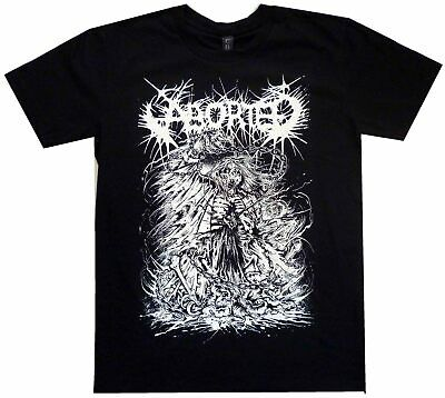 Aborted Skeleton Ribs Aust Tour Shirt S-XXL Official Tshirt Death Metal T-Shirt