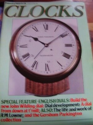 Clocks Mag February 1983 John Wilding English Dials Lion Clock Crucifix Clock