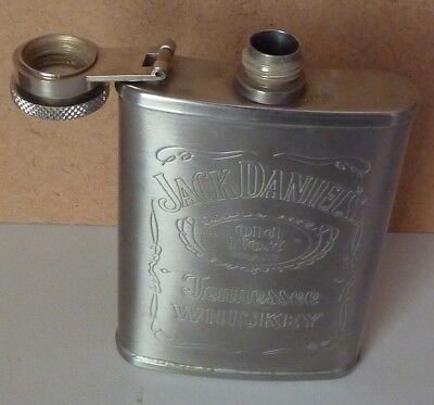 Jack Daniels 3Oz And 1Oz Stainless Steel Flasks
