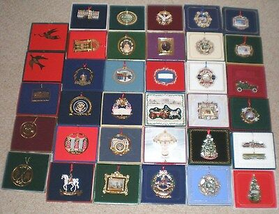 Complete Set / Lot (37) White House Historical Association Ornaments 1981 - 2017