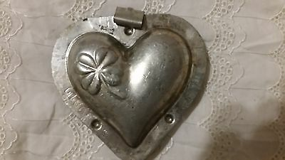 Hart Herz Chocolate Mold Vintage Antique Antike Giessform