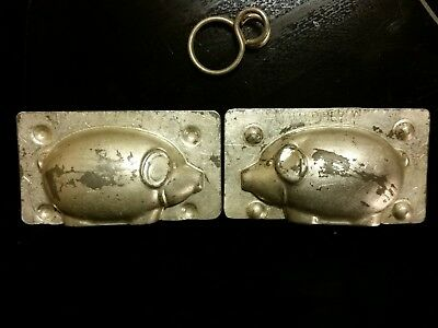Walter Berlin Rare Small Pig Boar Schwein Tin Chocolate Mold Vintage Antique
