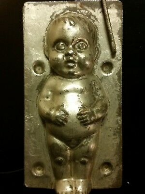 Kewpie Doll Child Baby Boy Nude Naked Tin Chocolate Mold Antique