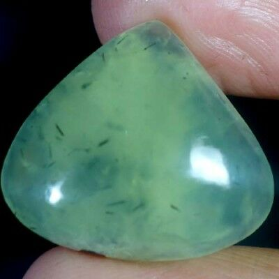 31.30Ct 100% NATURAL UNTREATED PREHNITE HEART CAB SUPER RARE GREAT AA GEMSTONE