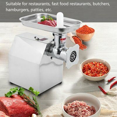 US 110V 850W Commercial Grade Electric Meat Grinder Stainless Steel Heavy Duty