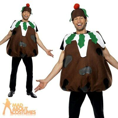 Adult Christmas Pudding Costume Mens Ladies Christmas Fancy Dress Xmas Outfit