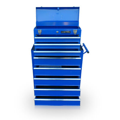 451 Us Pro Tools Mechanics Blue 8 Drawer Tool Chest Steel Box Roller Cabinet