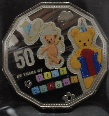 2016 Australian Fifty 50 Cents 50 Years of Play School UNC Coloured Coin