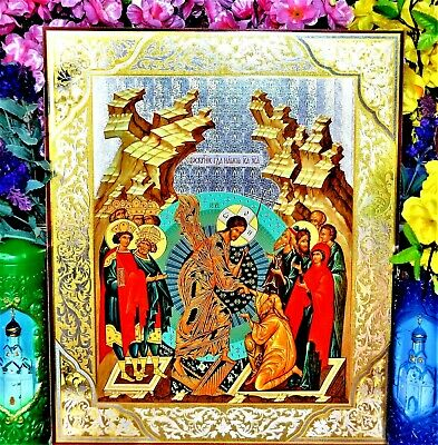 Resurrection of Christ  Russian Orthodox icon Silver Gold embossing