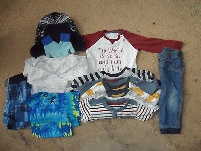 Baby Boys Mixed Clothes Bundle 15 Items - Age 9-12 Months