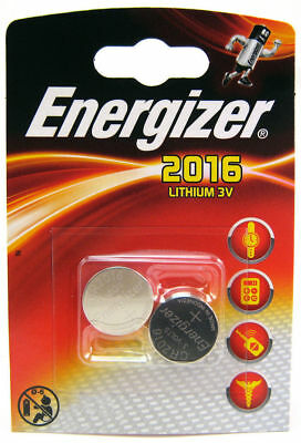 2x ENERGIZER~3v~LITHIUM~BUTTON CELL~DL2016~CR2016~CR~BR2016~BATTERY~EXP 2023/24