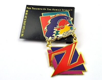 USA Olympia Lapel Pin Button Badge Anstecknadel The Triumph of the Human Spirit