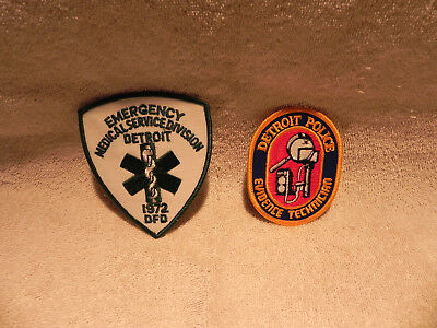 Lot Of 2 Detroit Safety Service Patches