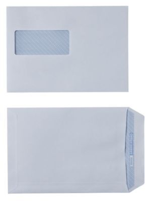 500 x C5 White Envelopes 90gsm Self Seal with Window 229 x 162mm 2042320
