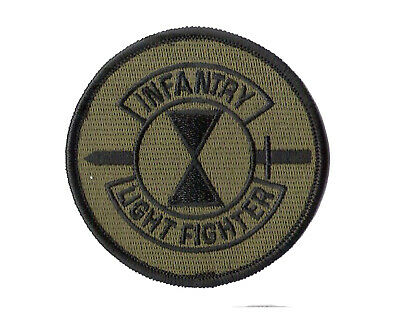 """New 4"""" Round Lightfighter School Patch - 7th Infantry Division - Fort Ord, CA"""