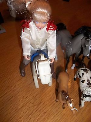 lot of 22 play horses Clydesdale GC pinto imperial Reeves Breyer cowgirl saddle