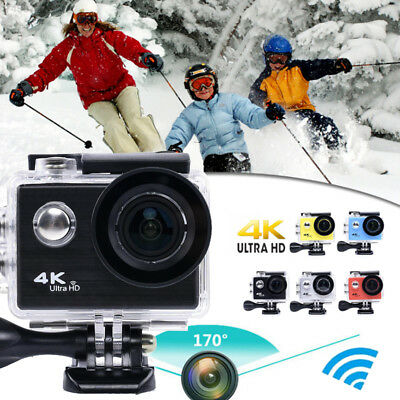 1080P 4K Ultra HD Sport Action Camera Wide Angle Camcorder Photo Wifi Waterproof
