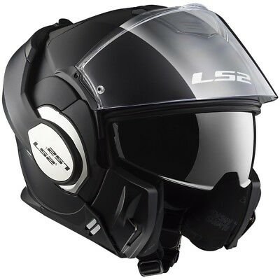 Casco Modulare Apribile Ls2 Ff399 Valiant Solid Matt Black Nero Xs S M L Xl Xxl