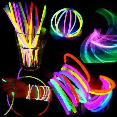 A15E Multicolor Fluorescent Glow Glowing Stick Necklaces Party Luminous Sticks
