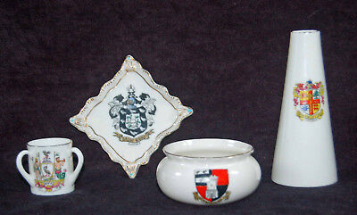 Vintage Wh Goss Crested China - Four Great Pieces