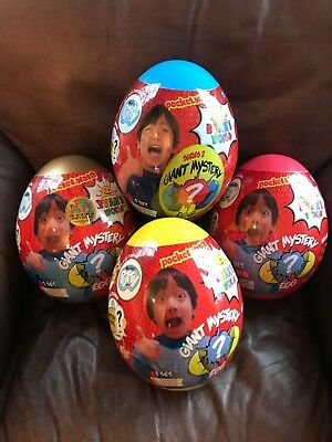 Lot of all 4  NWT RARE Ryans World Surprise Giant Mystery Gold, Blue Red, Yellow