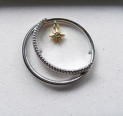 Origami Owl Large Silver Moon and Star Window Plate New
