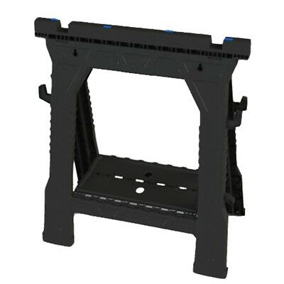 """2 Pack 32"""" Folding Portable Plastic Saw Horse Support up to 1000 lbs Non Skid"""