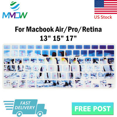 Cute penguin Silicone Keyboard Cover Skin For Macbook Pro Air Retina 13 15 17