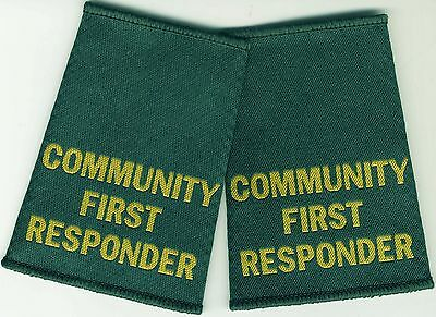 Woven Community First Responder Epaulette Slider Pair Green Epaulettes