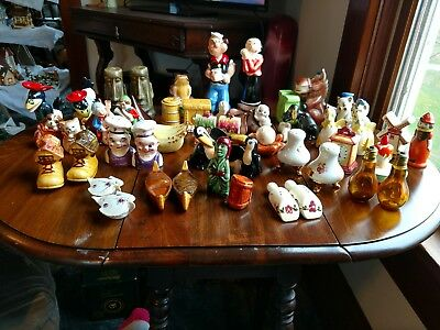 Vintage Lot Of Ceramic Salt & Pepper Shakers(27), Enesco, Sheffield, Japan