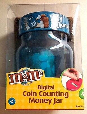 M&M's Digital Coin Counting Money Jar New In Box