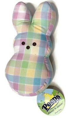 Marshmallow Peeps Plaid Bunny Plush 6""