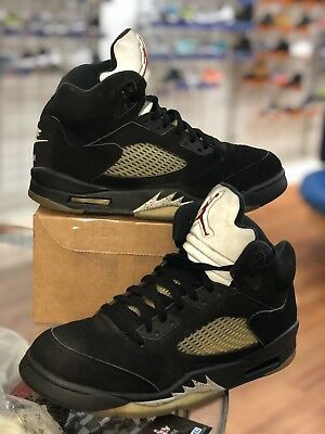 huge selection of 6411f 9d72c 2016 Nike Air Jordan 5 V Retro OG Black Metallic Silver Size 9 845035-003