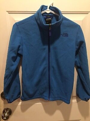 The North Face Youth Boys Fleece Zip Up Jacket Sz M (10/12) Blue