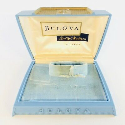 Vintage Bulova Dolly Madison Display Box Women's Watch Deco Plastic Antique